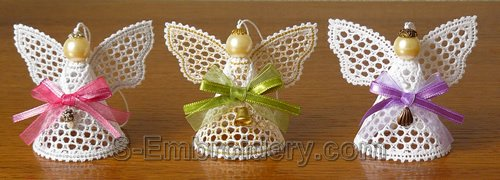 Christmas angel Battenberg lace ornaments
