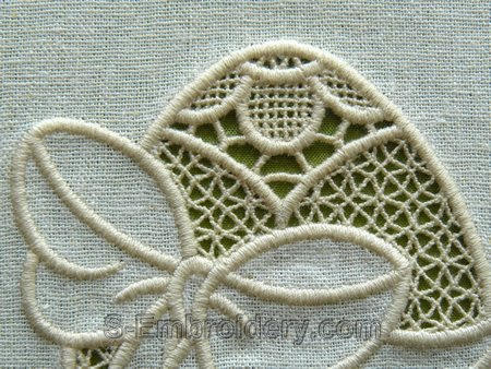 Cutwork lace Easter egg machine embroidery design