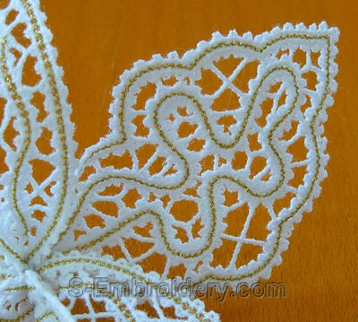 Freestanding Lace Embroidery 10584 3d Orchid Free Standing Lace