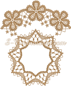 Battenburg free standing lace doily machine embroidery design