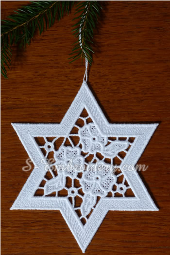 Free Standing Lace And Cutwork Star Christmas Ornaments