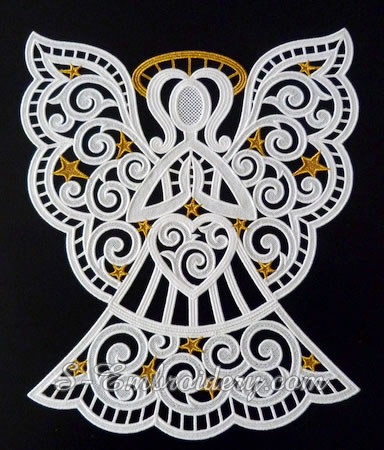 Christmas angel window ornament