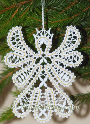 Free standing lace angel ornament for Christmas tree