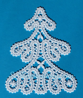 Christmas tree free standing lace ornament