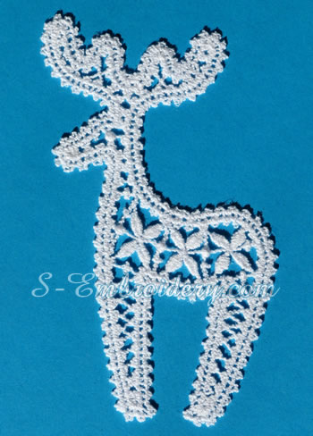 Christmas Ornaments Set In Freestanding Lace Sku10650