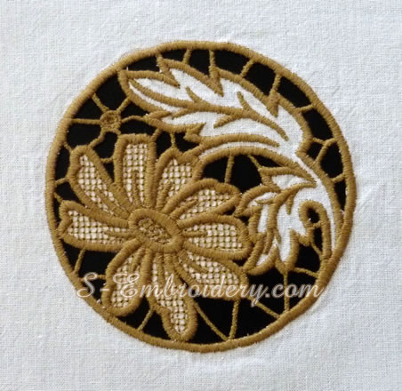 Daisy cutwork machine embroidery design #2
