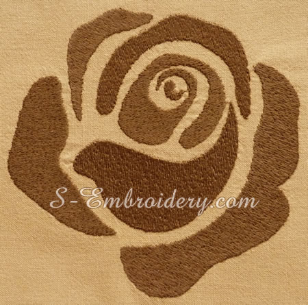 Rose embroidery design - classic machine embroidery