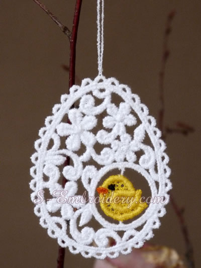 Easter egg freestanding lace ornament