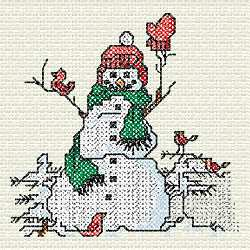 Cross Stitch Snowman Embroidery