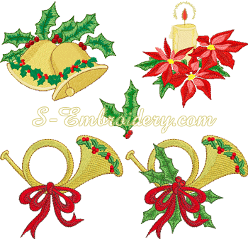 10005 Christmas machine embroidery set
