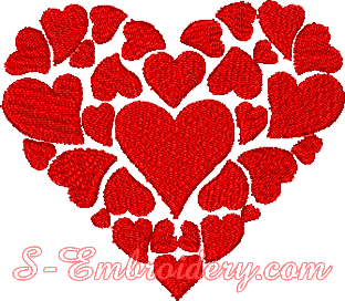 10073 Valentine heart embroidery set