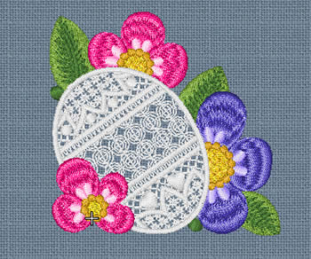 10085 Easter egg and flower embroidery set