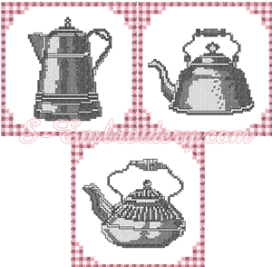 10088 Cross stitch kitchen embroidery set