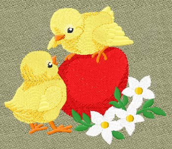 10110 Easter chicks embroidery design