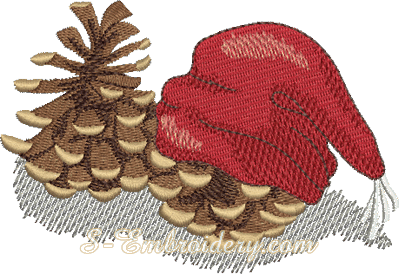 10167 Christmas cones machine embroidery