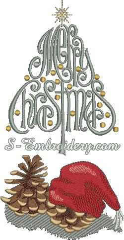 10170 Christmas machine embroidery set
