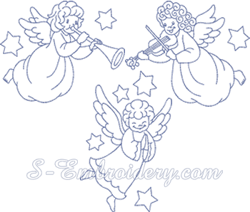 10171 Christmas angels machine embroidery set