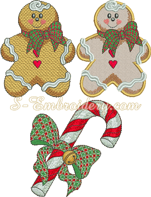 10175 Christmas candy embroidery set