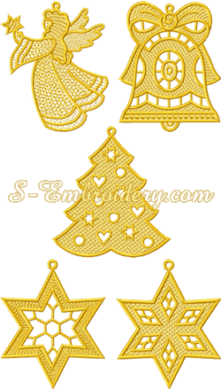 10188 Freestanding lace Christmas ornaments