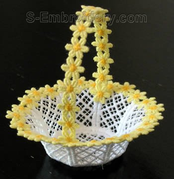 10274 Free standing lace wedding basket No25