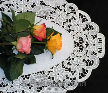 10330 Free standing lace doily embroidery set