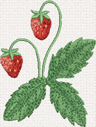 10349 Strawberry machine embroidery No5