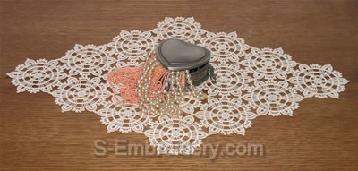 10358 Free standing lace doily machine embroidery