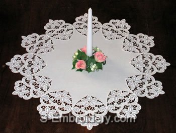 10362 Free standing lace doily set No4