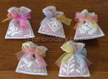 10365 Crochet lavender sachet embroidery set