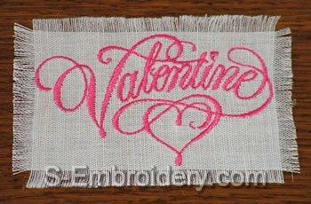 10399 Valentine machine embroidery set No2