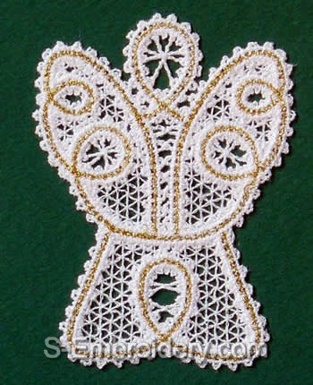 10441 Battenberg lace Christmas ornaments