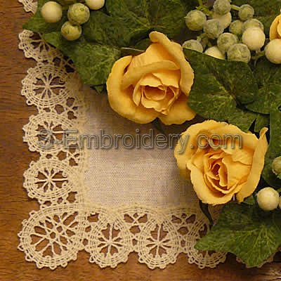10455 Battenberg lace border set