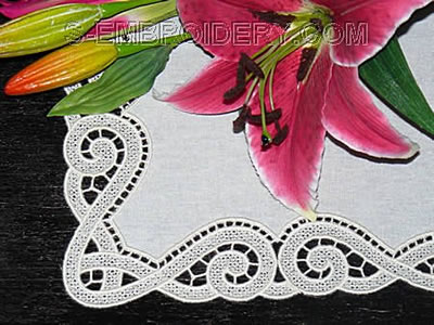 10474 Free standing lace border embroidery set