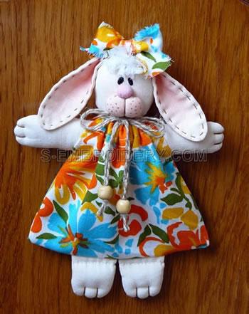10492 Bunny soft toy set