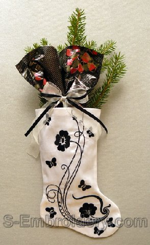 10555 Christmas stocking classic machine embroidery