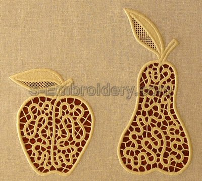 10556 Fruit cutwork lace embroidery set