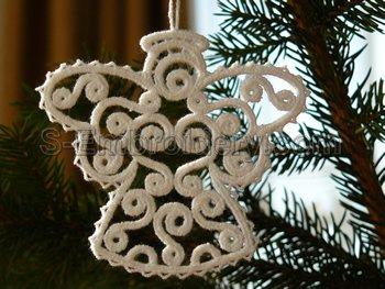 10564 Filigree Christmas angel ornament