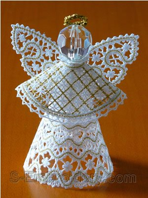 10565 3D free standing lace Christmas angel