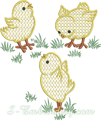 10606 Chicks machine embroidery designs