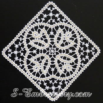 10610 battenburg lace tulip square machine embroidery design