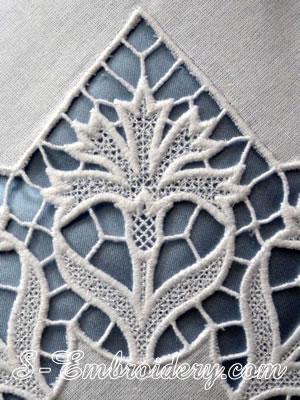 10613 Cornflower free standing lace machine embroidery design