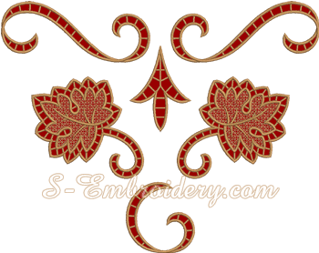10617 Grapes machine embroidery designs set