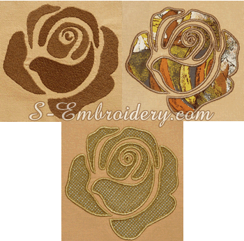 10652 Rose machine embroidery set