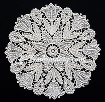 10656 Tulips free standing lace doily