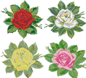 10065 Rose cross stitch embroidery set