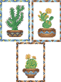 10089 Cross stitch cactus embroidery set No1