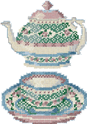 10091 Cross stitch tea embroidery set