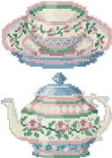 10092 Cross stitch tea embroidery set No2