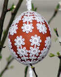 10337 Free standing lace Easter egg covers
