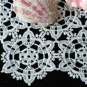 10376 Free standing lace crochet doily No3